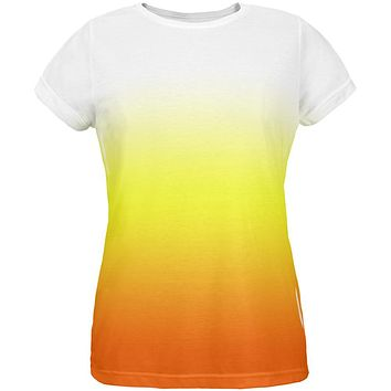 Halloween Candy Corn Ombre Costume All Over Womens T Shirt