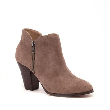 Sole Society Chelsa Zipper Detail Bootie