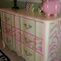 Vintage Painted Cottage Shabby Furniture French by TraceysFancy
