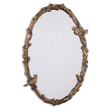 Mirrors, Tawna Wall Mirror, Antique Gold Leaf, Wall Mirrors