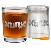 Bottoms Up Shot Glass - Drink Drunk