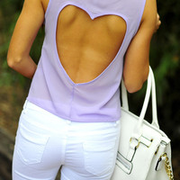 Sweetheart Crop Top: Lavender | Hope's