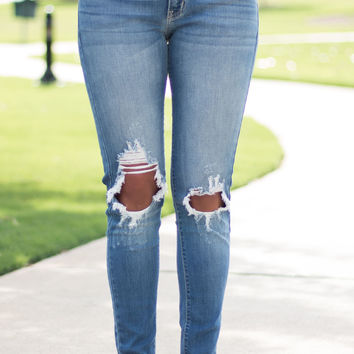 Sandy Brooks Distressed Kan Can Jeans