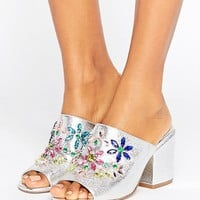 ASOS HOTLINE Embellished Mules at asos.com