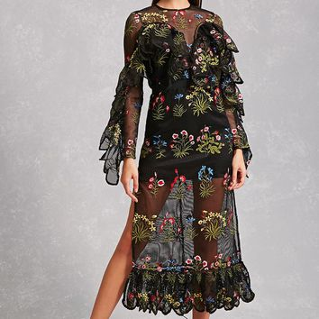 Nightwalker Floral Dress