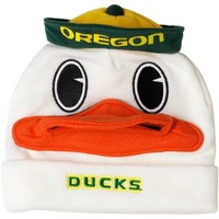 Oregon Ducks Mascot Knit Hat - White