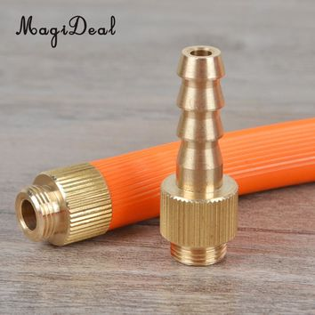 MagiDeal 42mm Length 1.65inch 6mm Dia Camping Stove Burner Hose Connector for Connecting Gas Can and Household Gas Connection