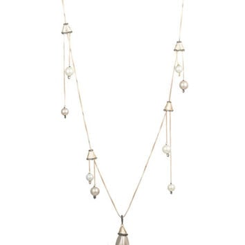 Alexis Bittar Multi-Pearl Drop Necklace