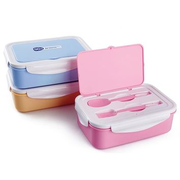 Japanese Style Microwave Bento Lunchbox Kids Portable Cartoon Plastic Sushi Food Container Chinese Tableware Sets Lunch Box