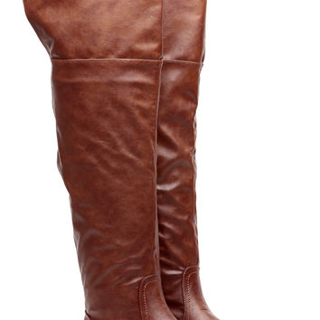 Chestnut Faux Leather Year Round Essence Knee High Boots