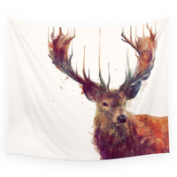 Society6 Red Deer // Stag Wall Tapestry