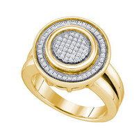Diamond Micro Pave Ring in Sterling Silver 0.23 ctw