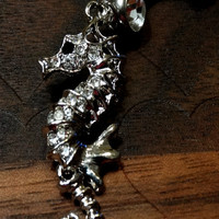Rhinestone Seahorse Belly Button Ring
