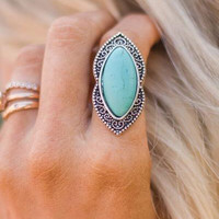 Turquoise Statement Ring - 3 styles