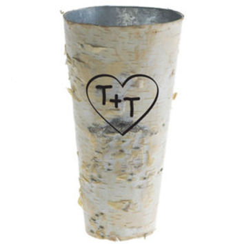 birch vase, personalized wedding,  personalized vase, rustic wedding, rustic home decor, rustic vase, engraved vase, birch wedding