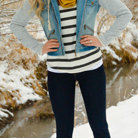 Ava Two-In-One Denim Jacket - SexyModest Boutique