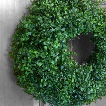 Boxwood Wreath - Faux Boxwood - Summer Wreath - Spring Wreath - Front Door Wreath - Front Door Decoration - Wall Decoration - Summer Decor