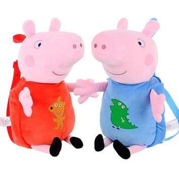 Peppa Pig George Plush Toys Backpack School Bag Kindergarten Bag Doll Toys Gift Kids Girls Boys Toys For Children Paw Patrol