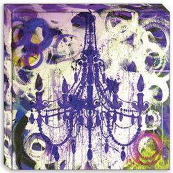 Canvas Edition: Purple Chandelier