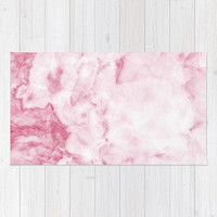 Marble Collection: Pink Marble Rug, Baby Pink Girls Nursery Rug, Pink Nursery Rug, Light Pink Marble Area Rug, Polyester Rug, Marble Rug