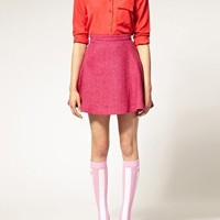 Pink | House of Holland For Pretty Polly Exclusive to Asos Pink Stripe Socks at ASOS