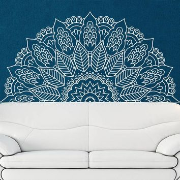 New Arrival Namaste Mandala Yoga Lotus Meditation India Buddha God OM Symnol Art Wall Sticker Vinyl Interio Bed Room Home Decor