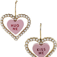 HEART CANDY KISS ME EARRING PINK