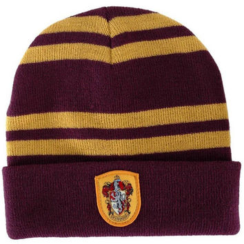 Harry Potter 4 college Badge hats winter Beanies Hat Warm Knit Hats Women Knitted Ski Skullies Men Caps christmas gift cosplay