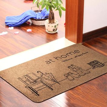 Fashion Carpet Toilet Water Absorption Non-slip Rug Porch Doormat Floor Mats Kitchen Rugs