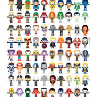 THE ULTIMATE 'AVENGER'S' ROBOTIC COLLECTION Art Print by We Are Robotic