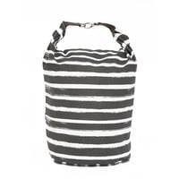 Stripes Charcoal Recycled Fold + Snap XL Bucket