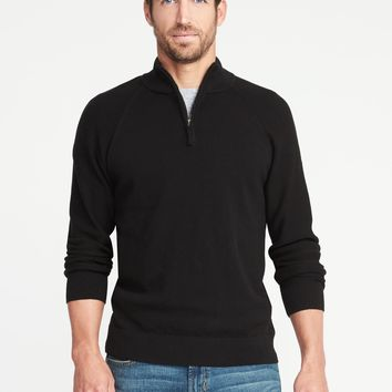 Mock-Neck 1/4-Zip Sweater for Men | Old Navy