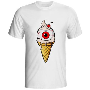 Vanilla Icecream Is My Favorite T Shirt Copyright Authorization Zombie Awesome Funny T-shirt Men Women White 100% Cotton Tee