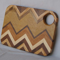 Small Size Herringbone Patterned Wooden Cutting Board