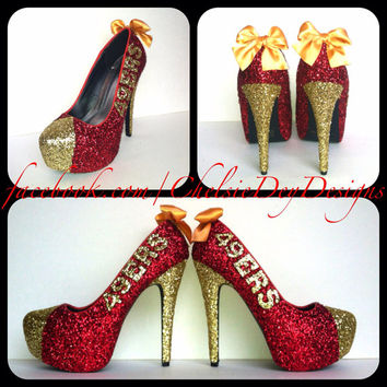 San Francisco 49ers Glitter High Heels