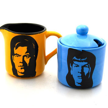Star Trek (R) Inspired Spock and Kirk Cream and Sugar Set