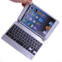 BATTOP® Aluminum Wireless Bluetooth Keyboard Case Cover with Stand / Holder for iPad MINI - With Auto Wake / Sleep