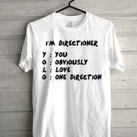 i'm directioner yolo, one direction Screen print Funny shirt for t shirt mens and t shirt girl size s, m, l, xl, xxl