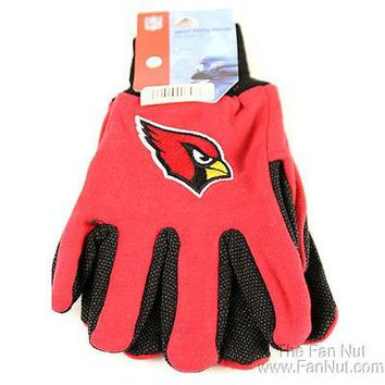 Arizona Cardinals Two Tone Pair GRIP Gloves Sport Work Utility Football