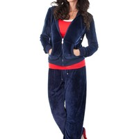 Velour Track Suit - Navy (Special Offer)