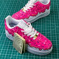 Nike Air Force 1 Low Af1 Upstep White Pink Doughnut Sport Shoes - Best Online Sale