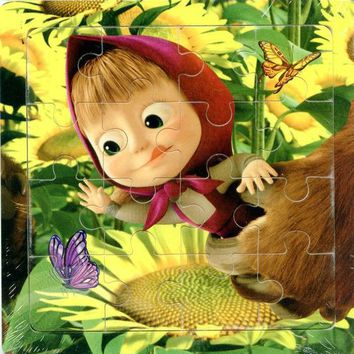 DCCKL72 3D Wood paper Jigsaw Puzzles Toys For Children Masha And Bear Kids Toys for 2+ years Baby Toys Educational