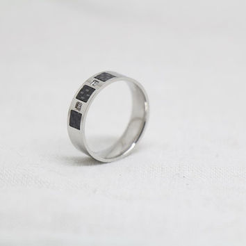 Free Engraving,black Ring, siver  Ring,promise ring,couple Rings, Lovers rings