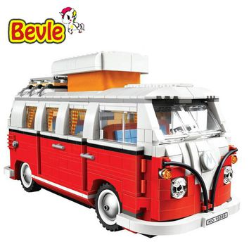 2017 New Arrival 21001 1354Pcs Create Series Creator Volkswagen T1 Camper Van Model Building Kit Blocks Bricks Toys
