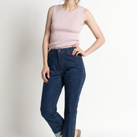 Vintage 80s Dark Denim Relaxed Fit High Waist Jeans | 4/6