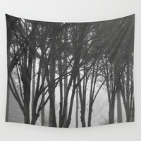 Foggy Days  Wall Tapestry by KCavender Designs