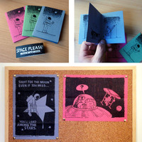SPACE PLEASE -A zine/poster set by Alex Hahn