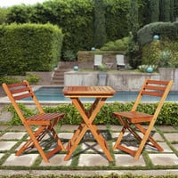 Premium Hardwood 3-piece Bistro Set | Overstock.com Shopping - The Best Deals on Bistro Sets