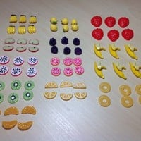 6 pcs Fruits Flatback Resin Cabochon Decoden Embellishments for decoden case