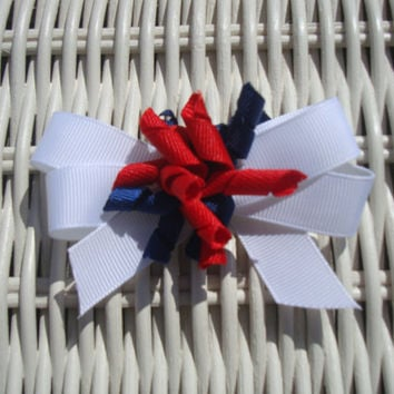 Small 4th of July Korker Hair Bow by BaileyHadaParty on Etsy